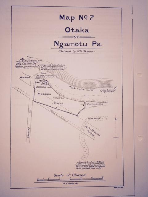 Otaka Pa drawing by W H Skinner